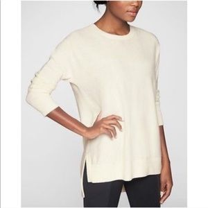 ATHLETA Offwhite Cashmere Wool Blend Sweater